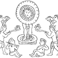 Representation of the ancient Mexican Worship of the Sun