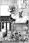 Burning Of Mandarins And Historical Documents, By Order Of Shih-Kwang-Ti