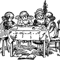 Children sitting at the table