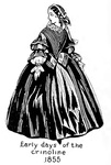 Early days of the crinoline - 1855
