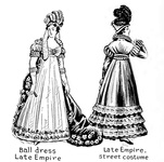 Late Empire - Ball dress and street costume