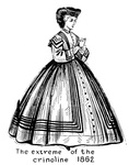 The Extreme of the Crinoline - 1862