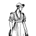 The more practical gown of the Empire Period