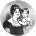 The Duchess of Kent, with Princess Victoria at the age of two