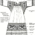 Russian Peasant Embroidery - Blouse in Cross Stitch