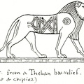 Lion from a Theban bas-relief
