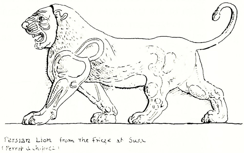Persian Lion from the frieze at Susa (Perrot & chipiez).jpg