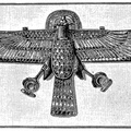 Pectoral in shape of a hawk with a ram's head