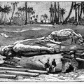 The Colossus of Ramses II emerging from the earth
