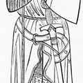 Anglo-Norman knight, after a tomb from 1277