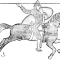 An 11th century knight, after the Bayeux tapestry