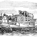 Horse-boat at Empy's Ferry, Osnabruck, Ontario