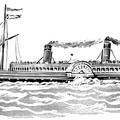 """Columba,"" famous Clyde river steamer, 1875"