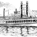Mississippi steamboat 'J. M. White,' 1878