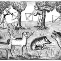 Crossbowmen killing Deer and Wild Boars
