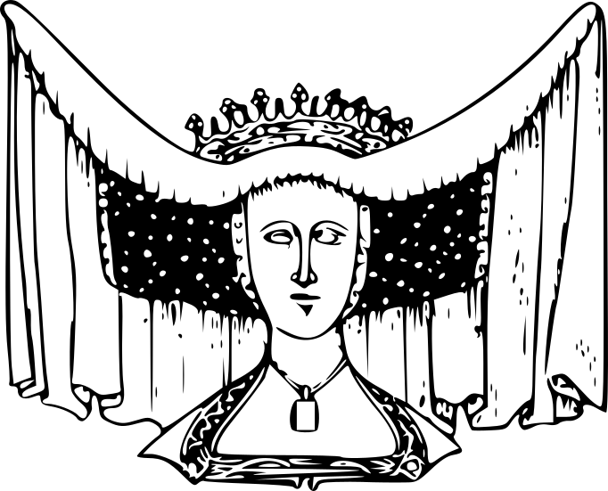 Horned Head-dress Beatrice, Countess of Arundel, 1439.png