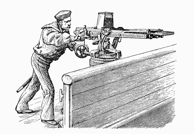Nordenfelt-Palmcrantz Gun mounted on Ship's Bulwark.png