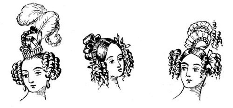 different modes of dressing the hair.in 1835.jpg